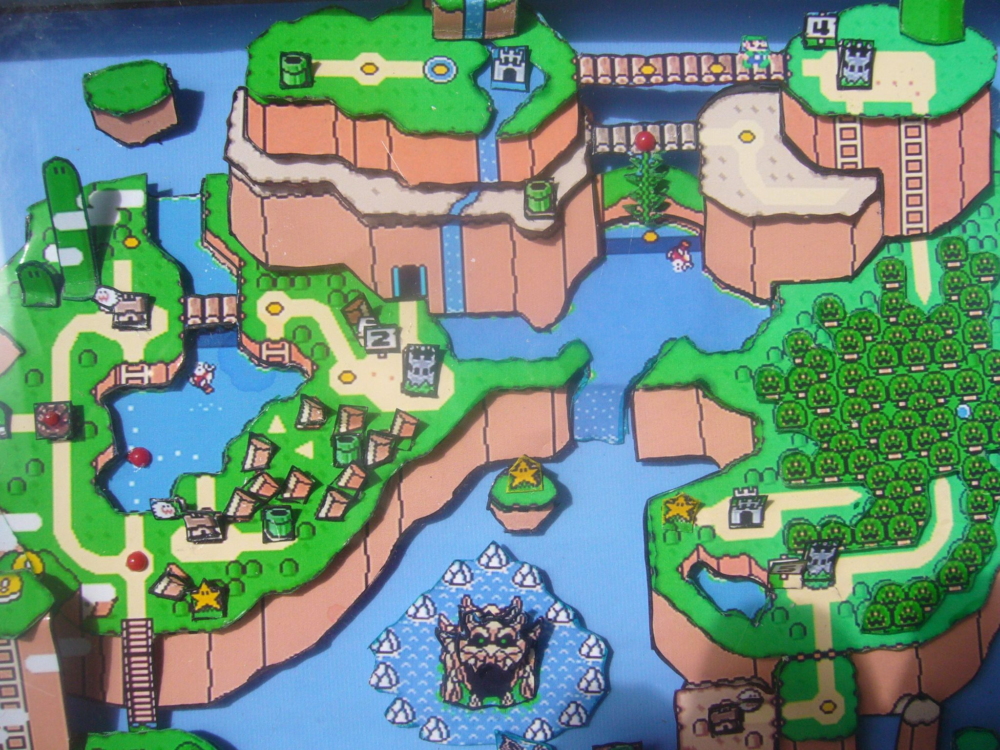 Super Mario World 3D Map Art on map of moshi monsters, map of fire emblem, map of oregon trail, map of kingdom hearts, map of sports, map of pokemon, map of sesame street, map of luigi's mansion, map of angry birds, map of baseball, map of hello kitty,